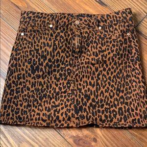 Celebrity Pink cheetah mini skirt XS